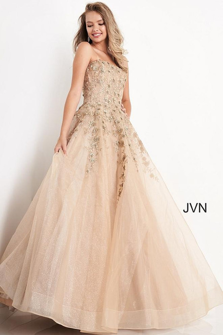 Jovani Prom JVN05451 Embroidered Strapless Dress