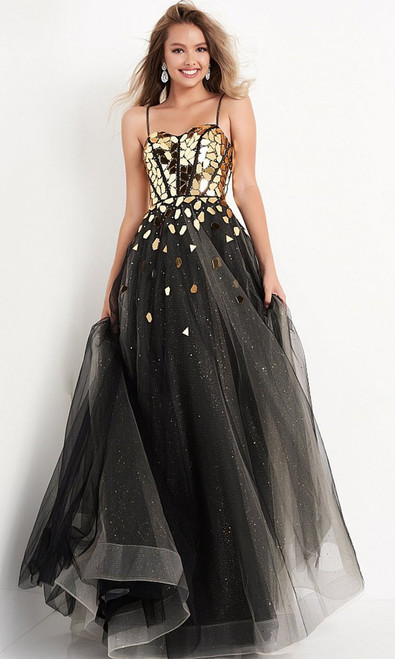 Jovani Prom JVN05737 Glass Beads A-Line Gown