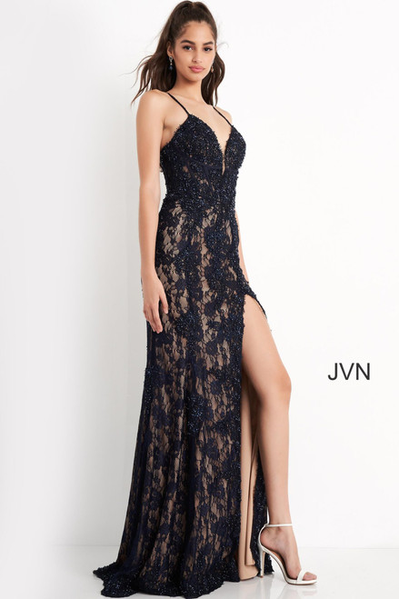 Jovani Prom JVN05757 Spaghetti Strap Lace Dress