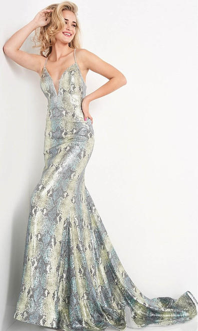 Jovani Prom JVN05800 Strappy Sweetheart Trumpet Gown