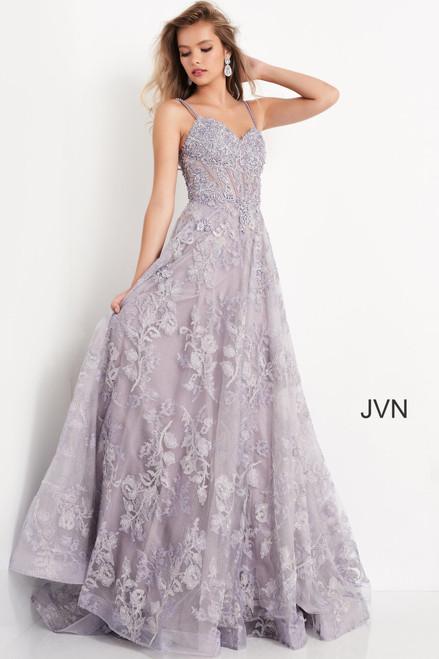 Jovani Prom JVN06474 Sweetheart Neckline Floral Dress