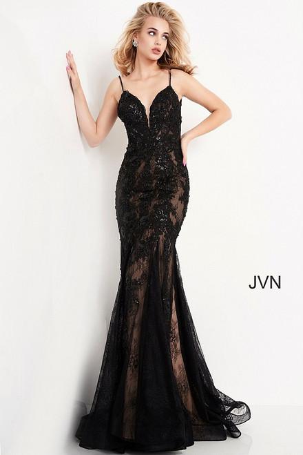 Jovani Prom JVN06475 Open Back Embroidered Dress