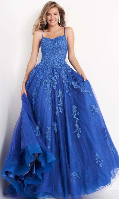 Jovani Prom JVN06644 Long Embroidered Lace A-Line Gown