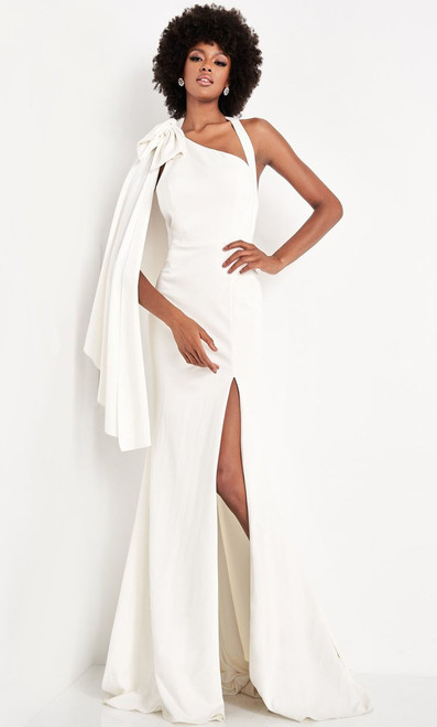 Jovani Prom JVN2516 Asymmetric Sheath Dress With Slit And Train
