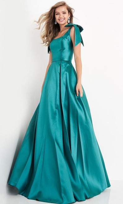Jovani Prom JVN4449 Sleeveless Bow Accent Shoulders Ballgown