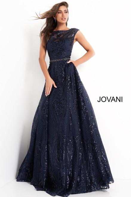 Jovani 02514 Embellished A Line Mother of Bride Dress