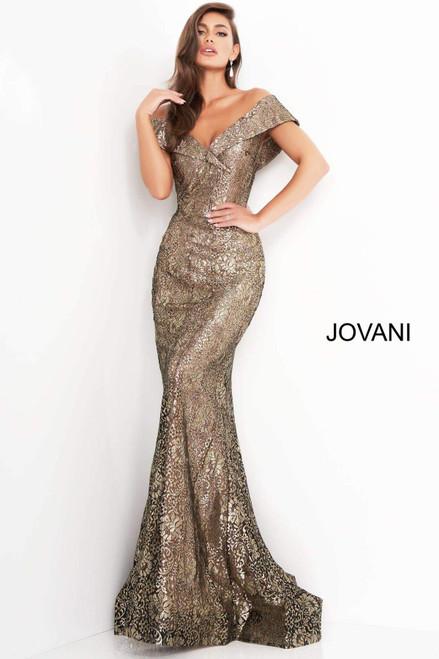Jovani 02920 Fitted V Neck Evening Dress
