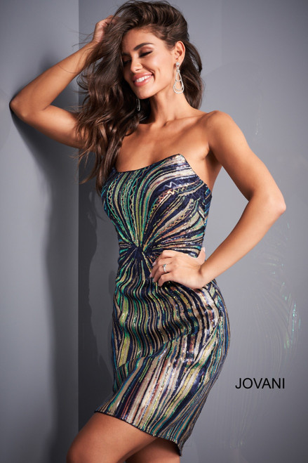 Jovani 04811 Sequin Fitted Homecoming Dress