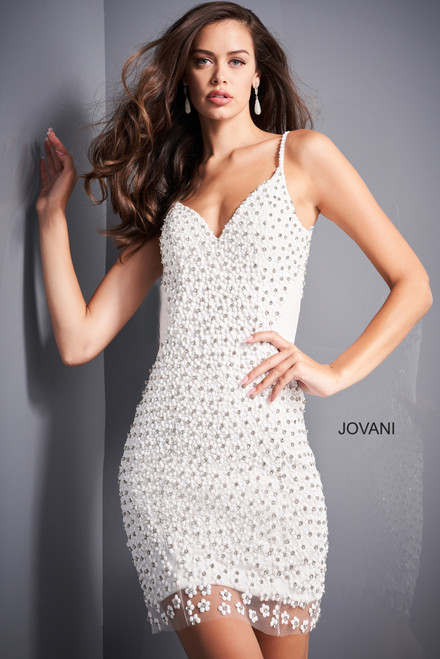 Jovani 000476 Embellished Fitted Homecoming Dress