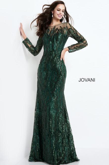 Jovani 03936 Sheer Neck Embellished Mother of the Bride Dress