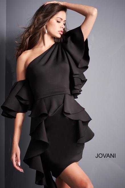 Jovani 05155 Ruffle Sleeve Cocktail Dress