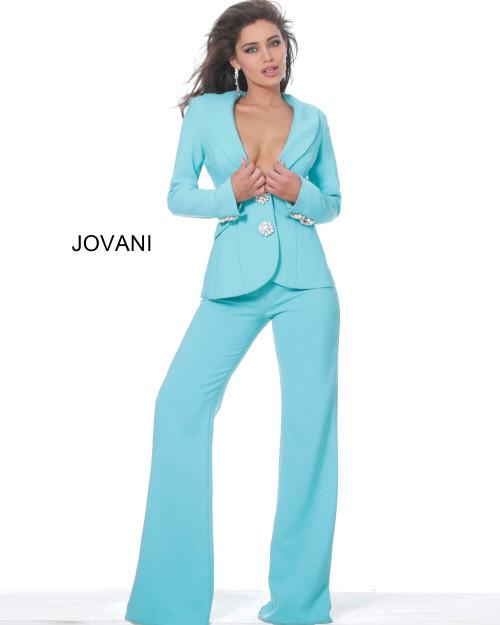 Jovani 02637 Two Piece Evening Pant Suit