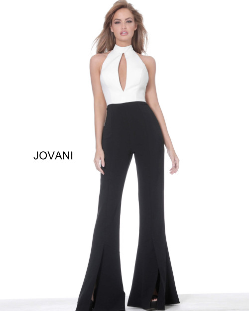 Jovani 4520 High Neck Backless Evening Jumpsuit