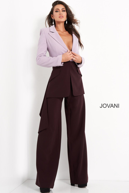 Jovani M04268 Two Piece Contemporary Pantsuit