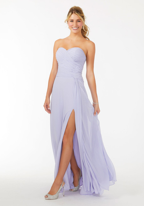 Morilee 21708 Draped Sweetheart Chiffon Bridesmaid Dress