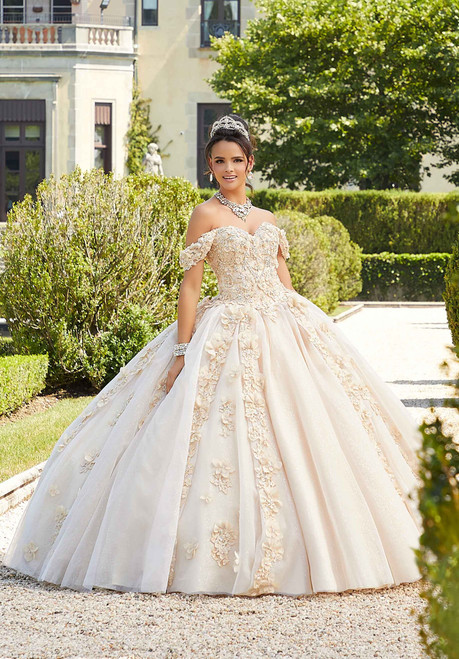 Morilee 89301 Floral Embroidered Quinceanera Dress