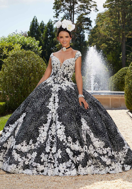 Morilee 34042 Patterned Caviar Glitter Quinceanera Dress