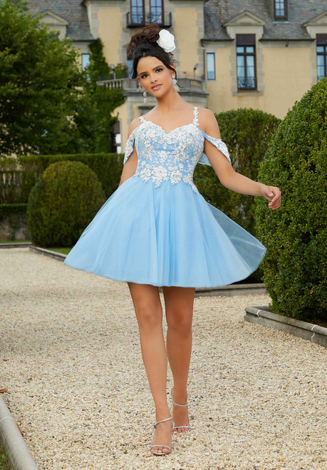 Morilee 9561 Lace and Tulle Party Dress