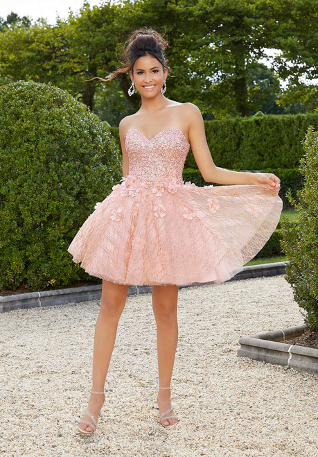 Morilee 9564 Glitter Net Party Dress