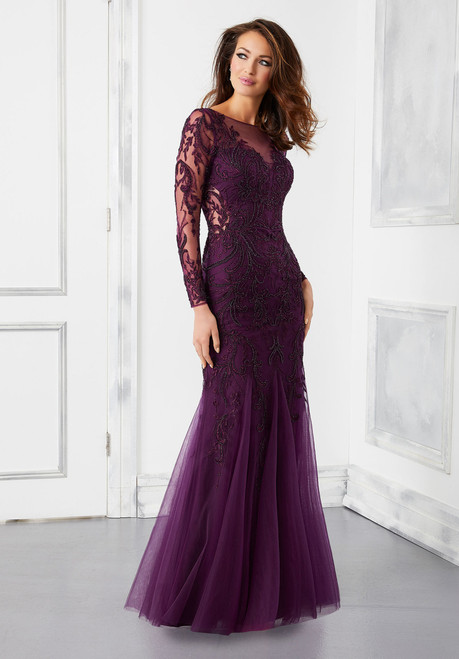 Morilee 72301 Intricate Beading and Embroidery Evening Gown