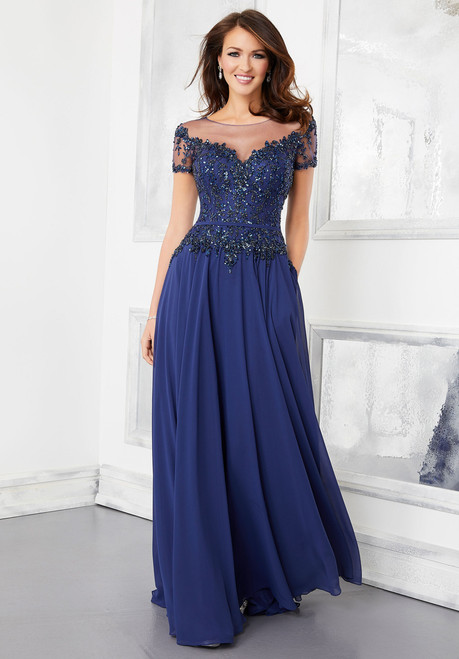 Morilee 72309 Crystal Beading A-Line Evening Gown
