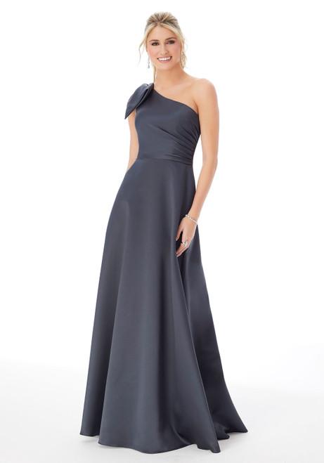 Morilee 21682 Satin One-Shoulder Bridesmaid Dress