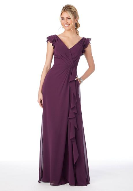 Morilee 21686 Ruffle Sleeve Chiffon Bridesmaid Dress