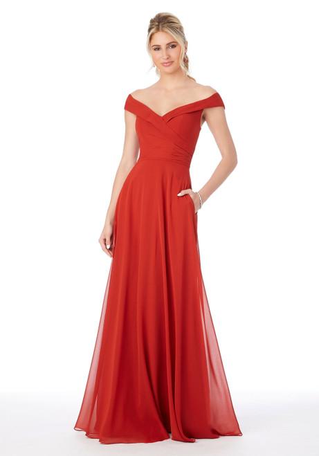 Morilee 21692 Off The Shoulder Chiffon Bridesmaid Dress