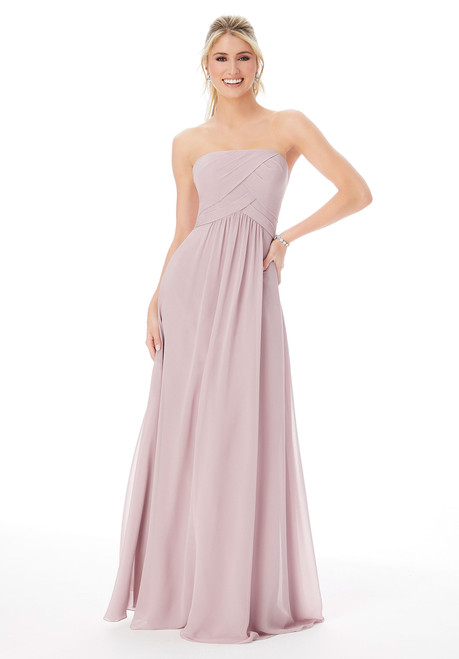 Morilee 13101 Strapless Chiffon Bridesmaid Dress