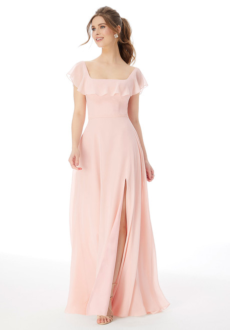 Morilee 13104 Square Neck Ruffle Bridesmaid Dress