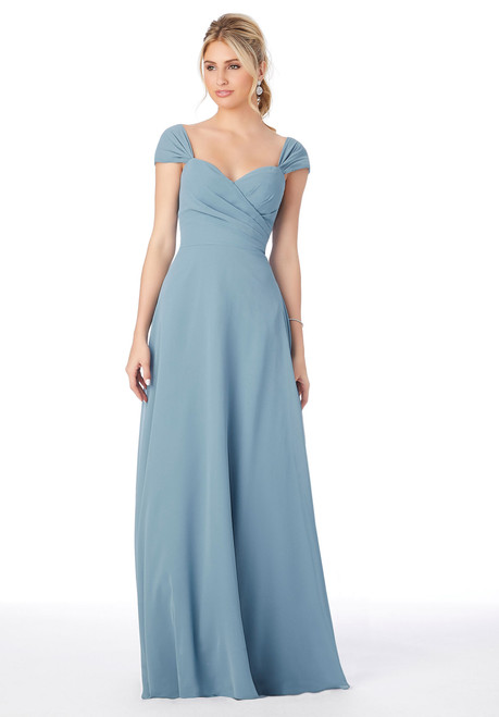 Morilee 13106 Cap Sleeve Chiffon Bridesmaid Dress