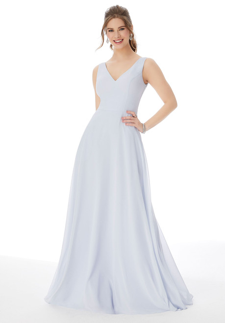 Morilee 13108 Simple Chiffon V-Neck Bridesmaid Dress