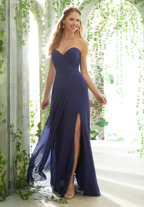 Morilee 21611 Sweetheart Bodice Chiffon Bridesmaid Dress