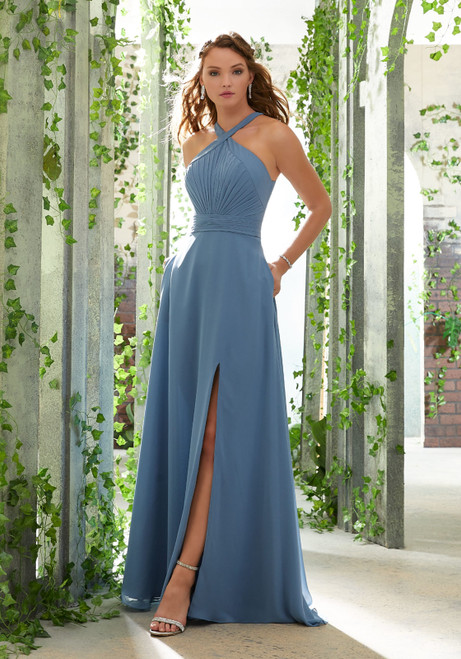 Morilee 21613 Draped Bodice Chic Chiffon Bridesmaid Dress