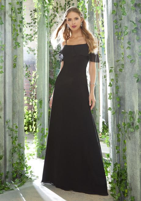 Morilee 21625 Flounced Neckline Bridesmaid Dress
