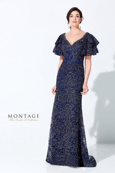 Ivonne D by Mon Cheri 220D21 Bell Sleeve Embroidered Gown