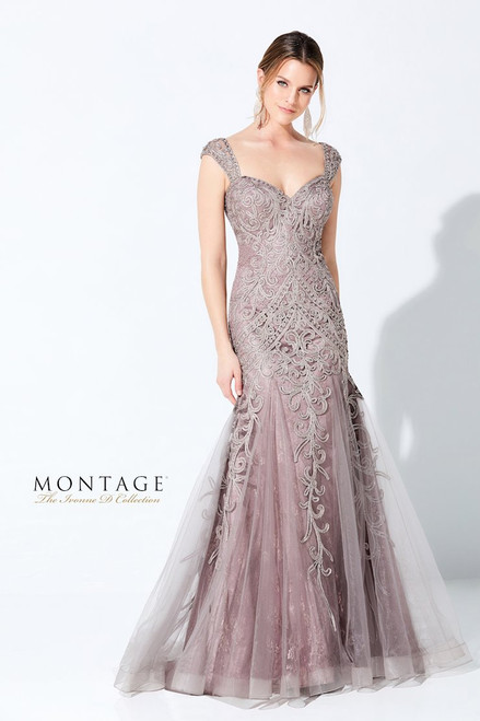Ivonne D by Mon Cheri 220D26 Embroidered Sweetheart Gown