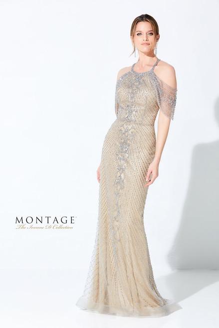 Ivonne D by Mon Cheri 220D35 Beaded Halter Gown