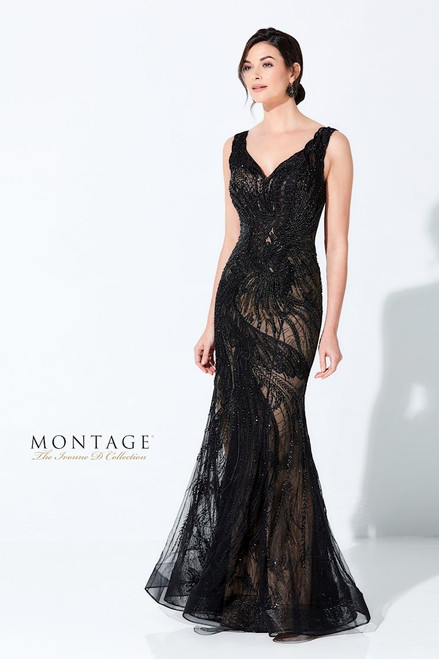 Ivonne D by Mon Cheri 220D36 Sleeveless Embroidered Gown