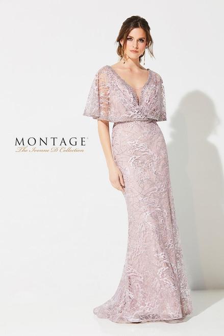 Ivonne D by Mon Cheri 219D72 Kimono Sleeve Lace Gown