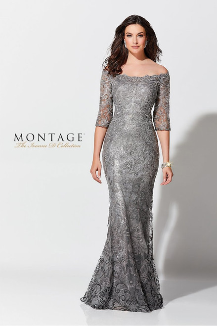 Ivonne D by Mon Cheri 118D07 Sequined Tulle Lace Gown