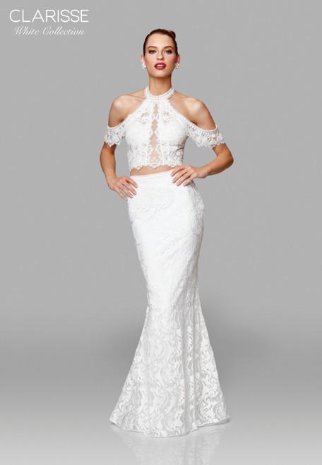 Clarisse 600153 Two Piece Lace Trumpet Dress
