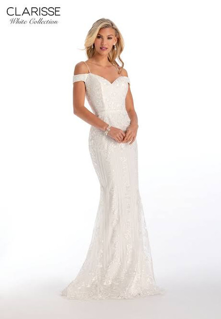 Clarisse 600210 Off the Shoulder Fit and Flare Gown