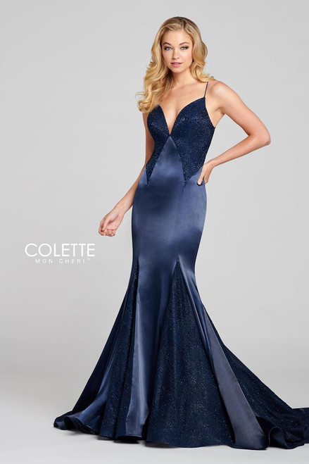 Colette by Mon Cheri CL12117 Sleeveless Stretch Satin Gown