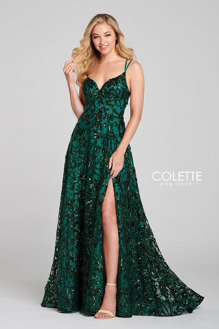 Colette by Mon Cheri CL12119 Sleeveless Sequin Tulle Gown