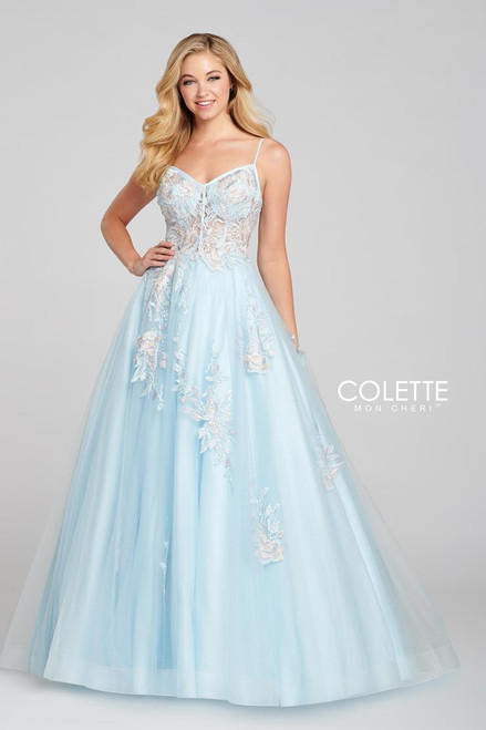Colette by Mon Cheri CL12123 Sleeveless Tulle Gown