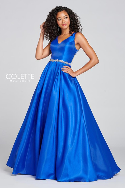 Colette by Mon Cheri CL12131 Sleeveless Novelty Gown