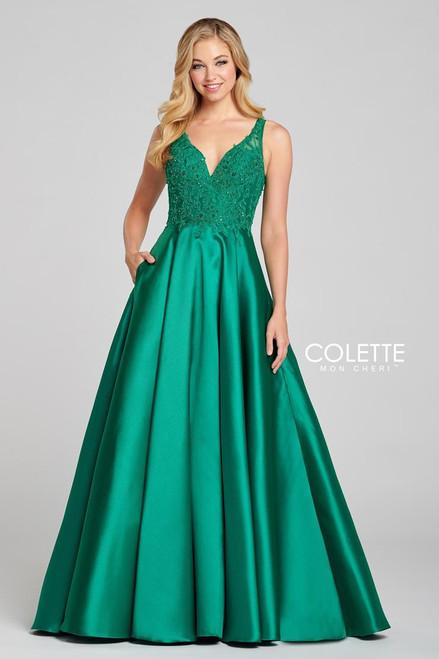 Colette by Mon Cheri CL12134 Sleeveless Mikado Gown