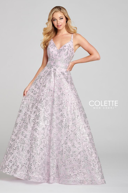 Colette by Mon Cheri CL12135 Sleeveless Sequin Gown