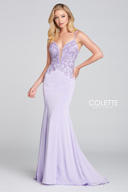 Colette by Mon Cheri CL12137 Sleeveless Stretch Crepe Gown